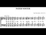 igor stravinsky ~ pater noster (the cambridge singers, dir. john rutter, 1993)