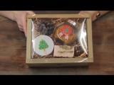 Коробка картонная с прозрачной крышкой большая за 90 руб
