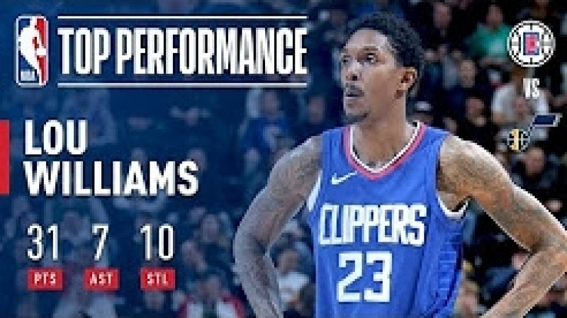 Lou Williams Puts Up 31 Points 10 Steals vs The Jazz