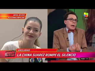 La China Suarez confirma su embarazo y opina de Pampita