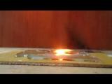 Огонь против стекла! Что будет со стеклянной бутылкой если температура 7000 °C