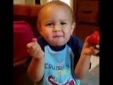 Когда дети первый раз пробуют клубнику