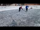 Хоккейный дриблинг на озере!