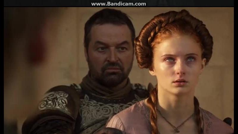 Игра престолов. Санса хочет сбросить Джоффри с моста