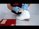 How to clean ice skating boots