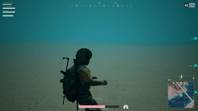 А как опуститься под воду?