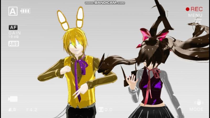 (MMDxFnaf) Spring Bonnie and Toy Bonnie Are Hight Again