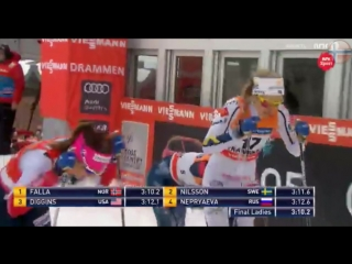 SPRINT FINAL Ladies [classic] Cross-Country Skiing World Cup Drammen, Norway 03-07-2018- NRK TV