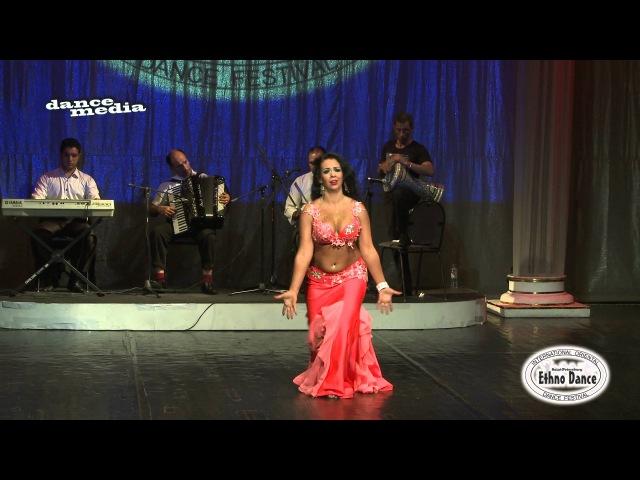 Karolina Yakumaite 1 place. Ethno Dance Festival 2014. Abdel Halim Hafez – Sawah- with live band