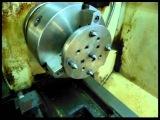 Приспособление для обработки листового материала на токарном станке