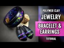 DIY ! Lisa Pavelka FOILS Polymer Clay PREMO Bracelet and Earrings. HOW to Make!
