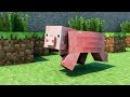 майнкрафт (летсплай)-ферма свиней и большое дерево возле дома