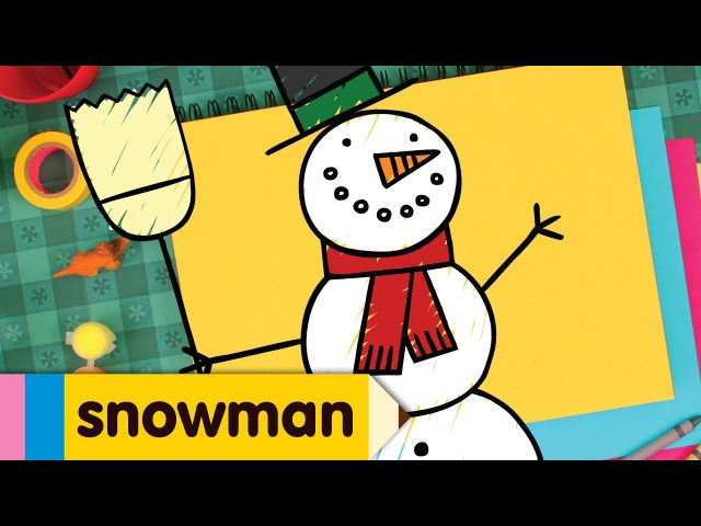 How to Draw A Snowman | Simple Drawing Lesson for Kids | Step By Step