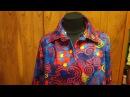 720 Фланелевая рубашка на кокетке воротник отложной на стойке Раскрой ч 1