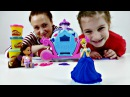 Пластилин Плей До. Видео для детей. Новое платье для ЗОЛУШКИ. Маша, Наташа и Добрая Фея.