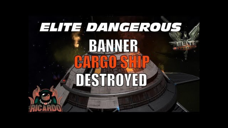 Elite Dangerous Banner class Cargo Ship Attacked by Thargoids