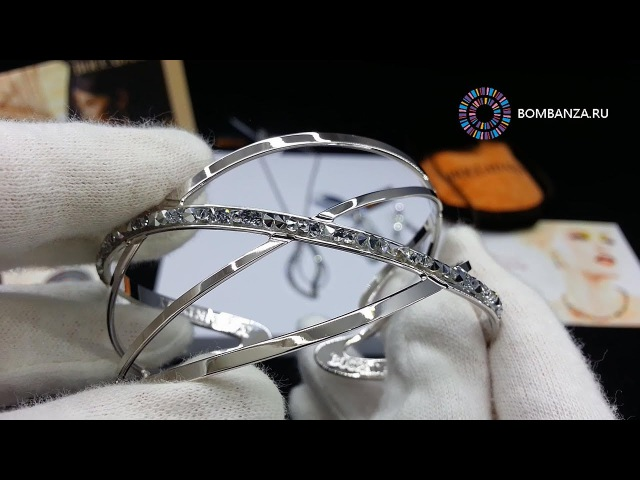 Стильный жёсткий браслет Boccadamo STARLIGHT, XBR253 BW/S. Элитная бижутерия из Италии