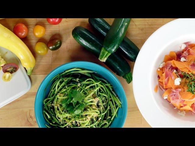 Как сделать овощную лапшу с помощью овощерезки | В тренде. How to Make Vegetable Noodles Without a Spiralizer | Eat the Trend