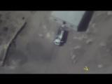 Телеканал Звезда опубликовал видео ударов по окружившим российский взвод боевикам