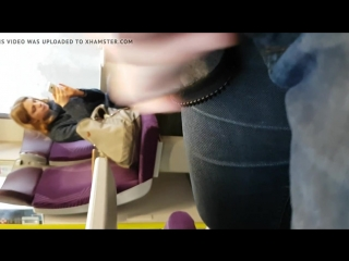 French lover wank front of girl in train 02