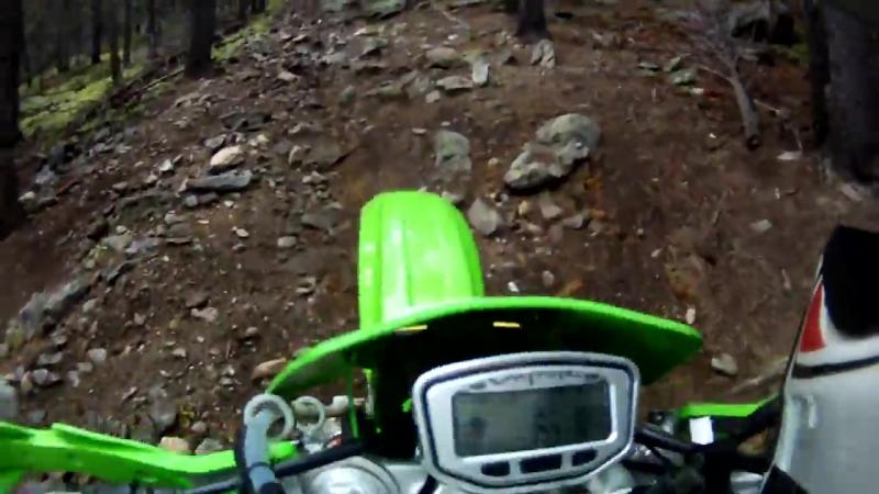 KDX200 KLX300 Rocky Singletrack trail riding in colorado