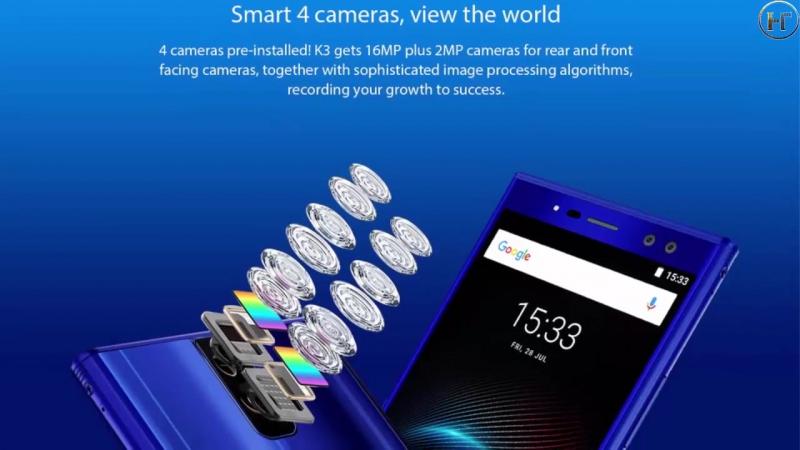 Телефон OUKITEL K3 4G Phablet 4GB RAM 64GB ROM 6000mAh Battery