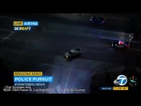 POLICE PURSUIT FAIL TO STOP NISSAN PICKUP TRUCK WITH DOG LIVE PACOIMA CALIFORNIA 992017