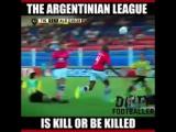 Суровый аргентинский футбол ?