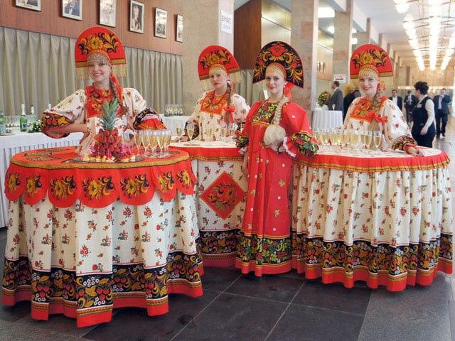 Свадьба в русском национальном стиле - фотографии