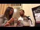 Беркова и Стоянов пьют чай