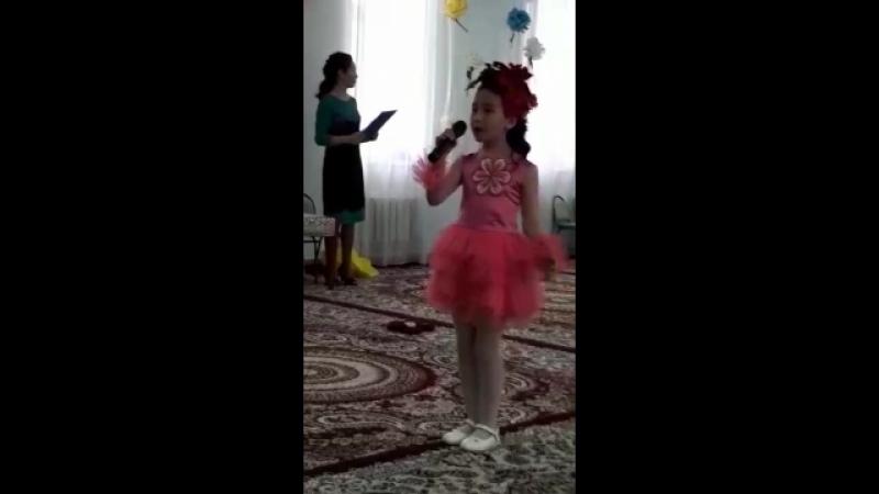 Ақжүніс Ана атты моналогымен  балабақша 5-жаста