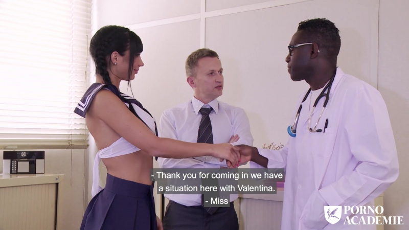 Valentina Ricci ( Hot school girl Valentina Ricci enjoys hot MMF threesome in doctors office) 2017, All Sex,