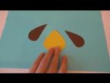 Собака символ 2018 своими руками. Детские поделки из цветной бумаги и картона.