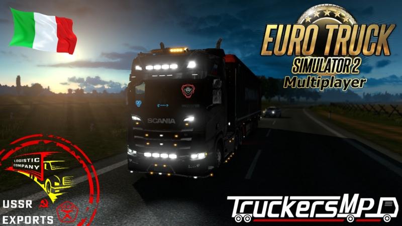 ETS 2 MP ☭ Белиссимо Italia, конвой USSR exports, Scania R 2016 V8 (6x4)