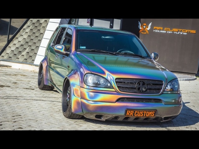 Custom ML W163 - wide body, air ride, 3M Psychedelic wrapping - stanced democar daily