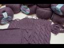 Вязание спицами СП Зимнее платье Отчет 1