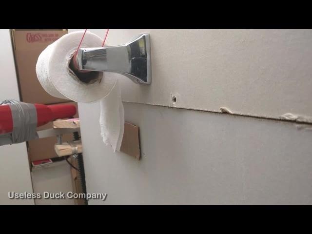 Smart way to cut toilet paper.