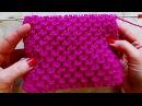 Рельефный узор Вязание спицами Видеоурок 250