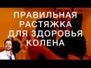 Правильная растяжка для здоровья колена | Доктор Демченко