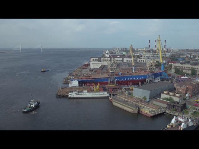 Спуск на воду первого серийного атомного ледокола проекта 22220
