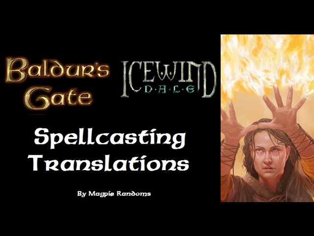 Baldur's Gate and Icewind Dale: Spellcasting Sounds Latin Translation