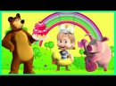 Super Giant Gold Collections of Surprises Masha and the Bear Egg Toys Opening