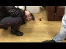 Задержание напавшего на Татьяну Фельгенгауэр в редакции Эха Москвы 23.10.17