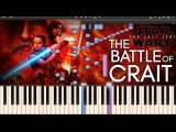 The Battle of Crait - Star Wars 8 The Last Jedi OST(Synthesia Piano Tutorial)+SHEETS&ampMIDI