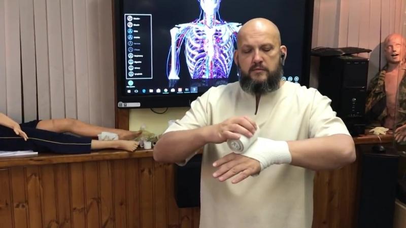 Повязки на суставы при травмах Дисмургия Самопомощь