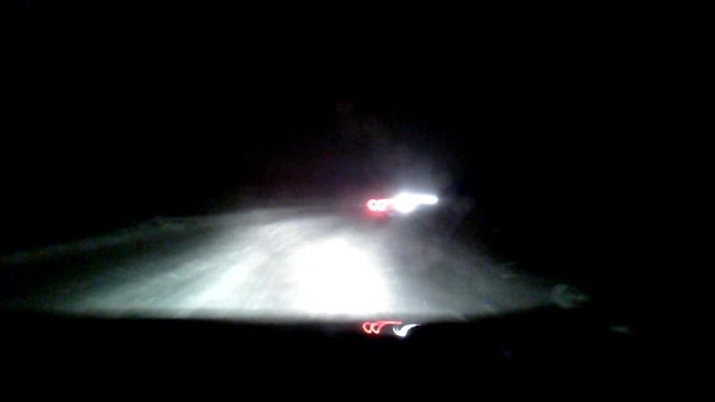 Ночной заезд по трассе ледового ралли спринта   Ваз 21214