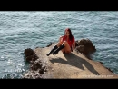Lara Larsen Latex in Public WET at Opatjia Beach