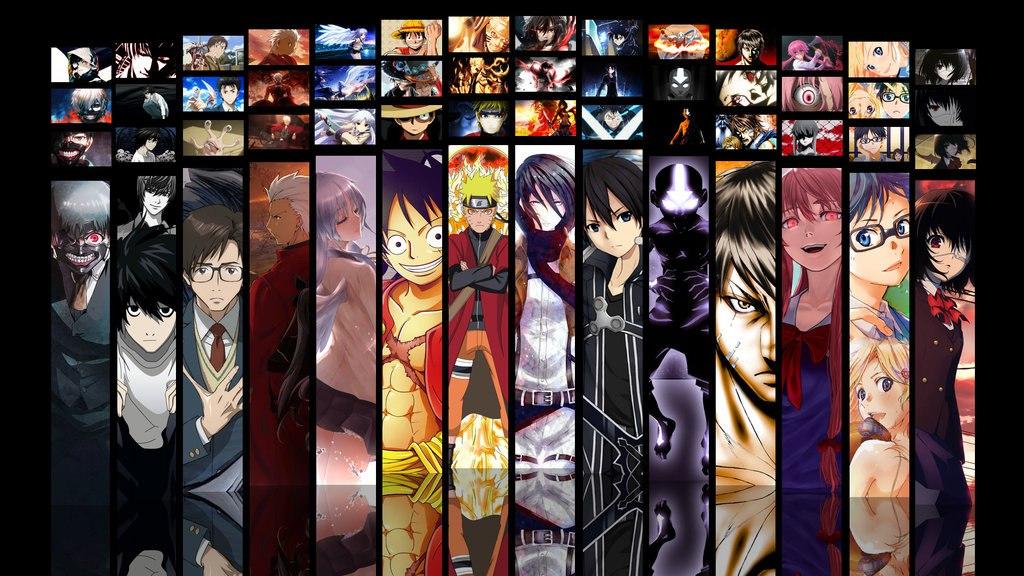 с аниме картинки разными героями