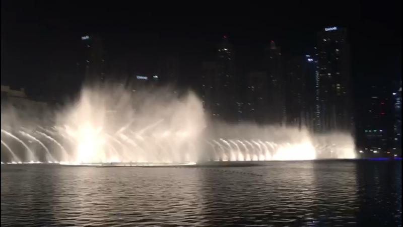 Фонтаны в Дубай ❤️❤️❤️