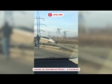 В Москве Ауди «звездолет» врезался в отбойники и перевернулся.